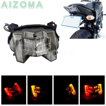 Motorcycle Brake Stop Tail Lights Integrated w/ Amber Turn Signal Lamp Rear Running Lights for Yamaha MT-09 FZ-09 2017-19