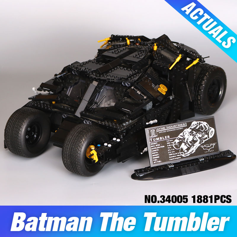 Lepin 34005 Decool 7111 Super Heroes Batman The Tumbler Blocks Bricks Educational Children day's Gift DIY Compatible Bela 76023 decool 7118 batman chariot super heroes of justice building block 518pcs diy educational toys for children compatible legoe