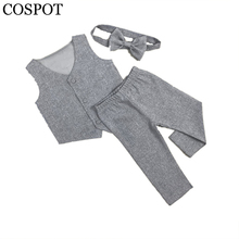 COSPOT Baby Boys Suits for Wedding Boy 3Pcs Jacket+Pants+Tie Boy Wedding Outfit Kids Autumn Clothing Set 1-5Yrs 2017 New 40F