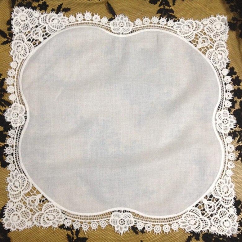 Fashion Rose Style Women Handkerchiefs 12PCS/Lot 12x12