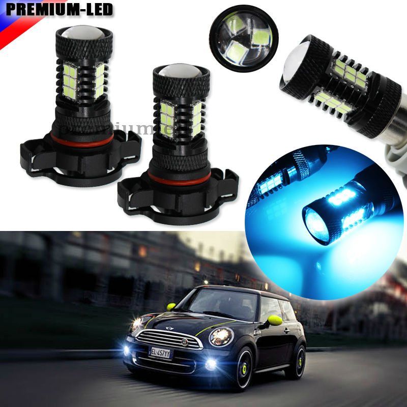 2pcs 10000K Ice Blue 21-SMD-2835 5200s PSX24W LED Bulbs For MINI Cooper F55 F56 Halogen Headlamp Trim For Daytime Running Lights ice q marathon 10000 bw