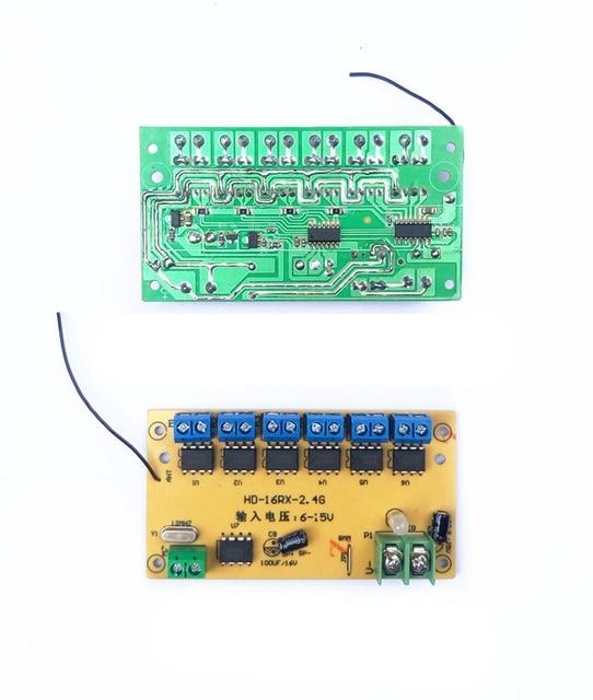 12CH haute puissance 2.4G télécommande + récepteur bricolage contrôleur Circuit imprimé 6-15 v pièces de rechange pour RC voiture bateau réservoir pelle