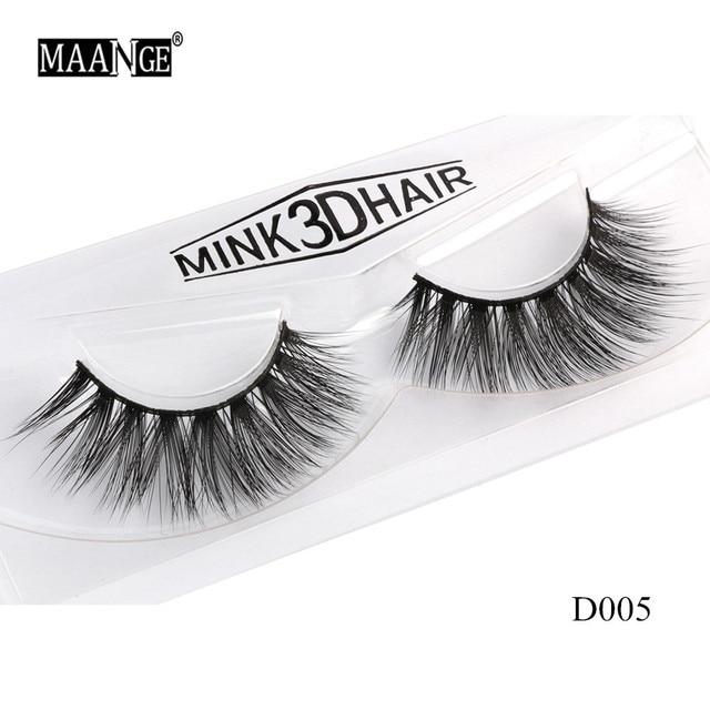 1 Pairs Mink Eyelashes Natural Long 3D Mink Lashes Hand Made False Eyelashes Full Strip Lashes Makeup False Eyelash Beauty Tool 4