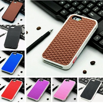 bbd765ee236 Funda de goma de silicona suave de marca Waffle para iphone 5S 6 6 S Plus 7  7 Plus 8 8 Plus cubierta trasera de la caja del teléfono de la suela ...