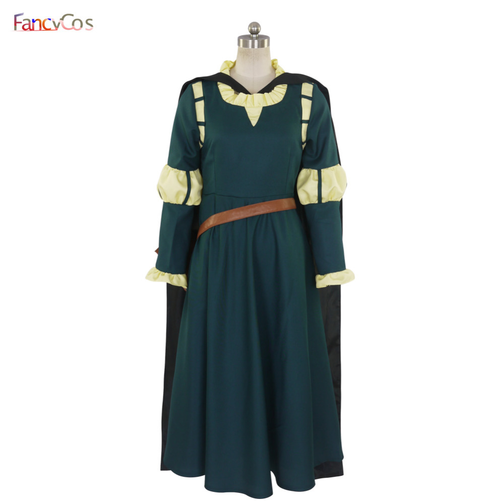 Halloween Women's Brave Merida Princess Party Dress Cosplay Costume High Quality Custom Made