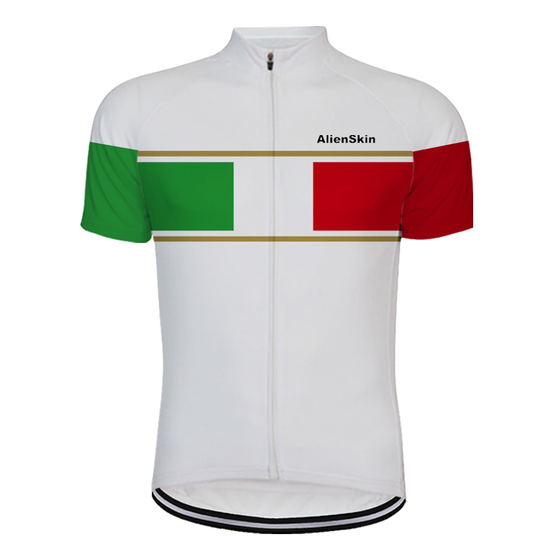 Classic Mens Bike Riding Jerseys Cycling Shirt Short Sleeve Tops Clothing White