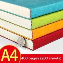 Ruize オフィスノートブック厚紙革のノートブック a4 ビッグ毎日メモプランナーアジェンダ 2019 ソフトカバービジネスメモ帳