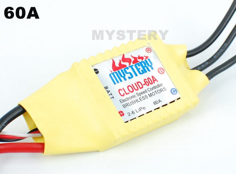 Mystery Cloud 60A brushless W/O BEC ESC RC Speed Controller For Rc Helicopter RC Airplane