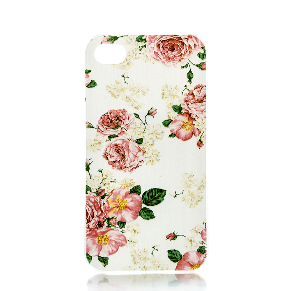 Flower Coloured Custom Printed Hard Plastic Mobile Protective Phone Case Cover Iphone 5 5S 5C 4 4S 6 6S 4.7 - ShoppingBar store