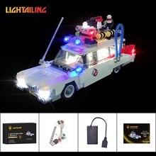 LIGHTAILING Led Light Up Kit Para Ghostbusters Ecto-1 Modelo Blocos de Construção Conjunto de Luz Compatível Com 21108