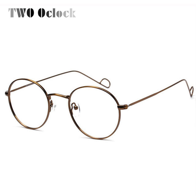 Women Vintage Handmade Wire Metal Round Eyeglasses Frame Men Retro ...