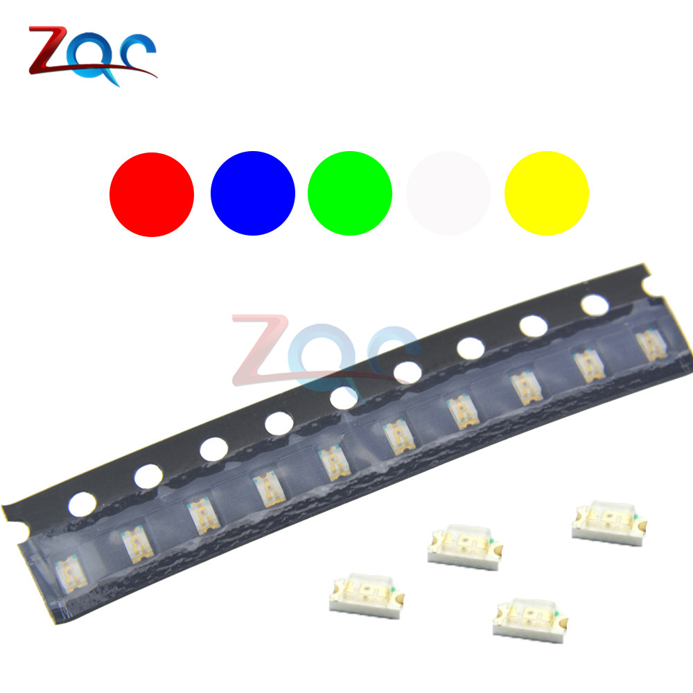 50 SMD 0805 LED Diode Kit is divided into red green and yellow US blue