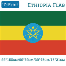 Free shipping The Federal Democratic Republic of Ethiopia National Flag 90*150cm/60*90cm/30*45cm/15*21cm 3x5ft Banners Polyester