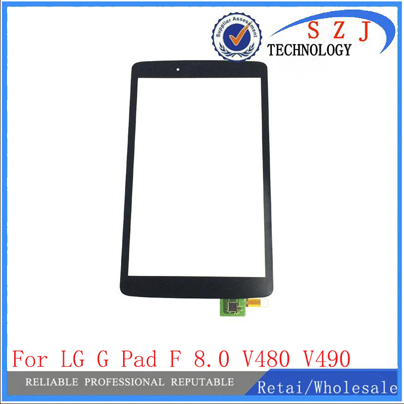 New 8'' inch For LG G Pad F 8.0 V480 V490 Digitizer Touch Screen Panel Replacement Parts Tablet PC Part free shipping new 8 3 inch lcd display touch screen digitizer glass assembly for lg g pad 8 3 v500 wifi and 3g version free shipping