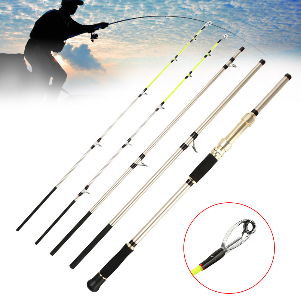 4 Sections Fishing Rods Ultra-light Durable Pole Carbon Rods Sea Boat Fishing Professional Outdoor Camping Picnic Fishing Rods pro mark promark h rods hot rods