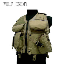 Tactical Mesh Vest Airsoft Camouflage Men's Pockets Outdoor Hunting Fish Vest Sport Photographer Waistcoat Sleeveless Jacket(China)