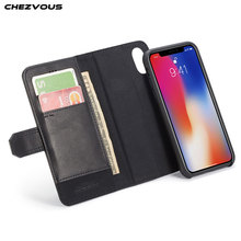 CHEZVOUS Brand Wallet Case for iPhone X Case Luxury PU Leather Silicone Flip Card Slots Cover for iPhone X 10 Phone Bags protective pu leather case cover w card slots strap for iphone 5c purple