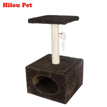 Comfortable Cat Climbing Toys Natural Sisal Scratching post Claws Grinding Short Plush Pet House