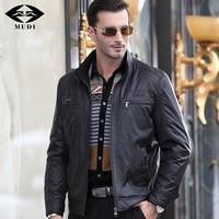MUDI Brand Men Jackets 6XL Autumn Winter Upscale Trench Silk Bomber Anorak Jacket Cloak Male Sark