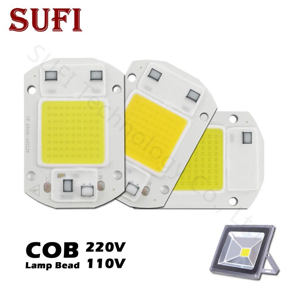 Smart Ic Led Cob Chip Ac220v 20w 30w 50w Full Spectrum 400nm-840nm Ac 220v 50 W For Led Flood Light Outdoor Plant Grow Lightin Led Bulbs & Tubes