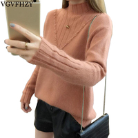 winter sweater women high collar 100% pure cashmere sweater female thick sweater 2018 new twist pattern bottoming warm pullover