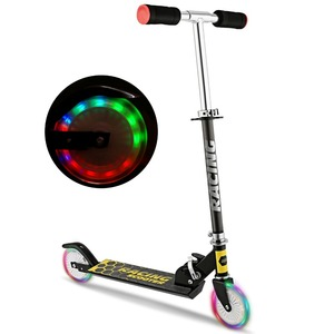 ANCHEER New Aluminum Alloy Kick Scooter Flashing 2 Wheel Scooter Adjustable Height Best Gifts for Children Unisex Foot Scooters(China)