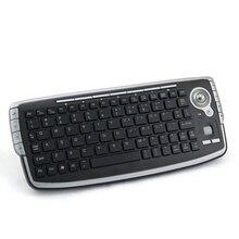 G13 мини-клавиатура 2.4 г Беспроводной трекболом клавиатура с мышью и Air Mouse Combo набор для домашнего ТВ Android ТВ ящик DVR ПК MAC