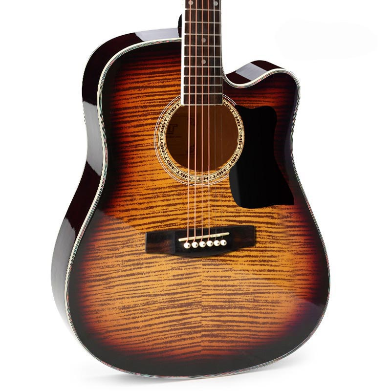 Genuine 40-inch 41-inch acoustic guitar for beginners basswood six-string guitar for free shipping 38 inch folk guitar to send full color gifts string linden wood guitar six strings with free shipping
