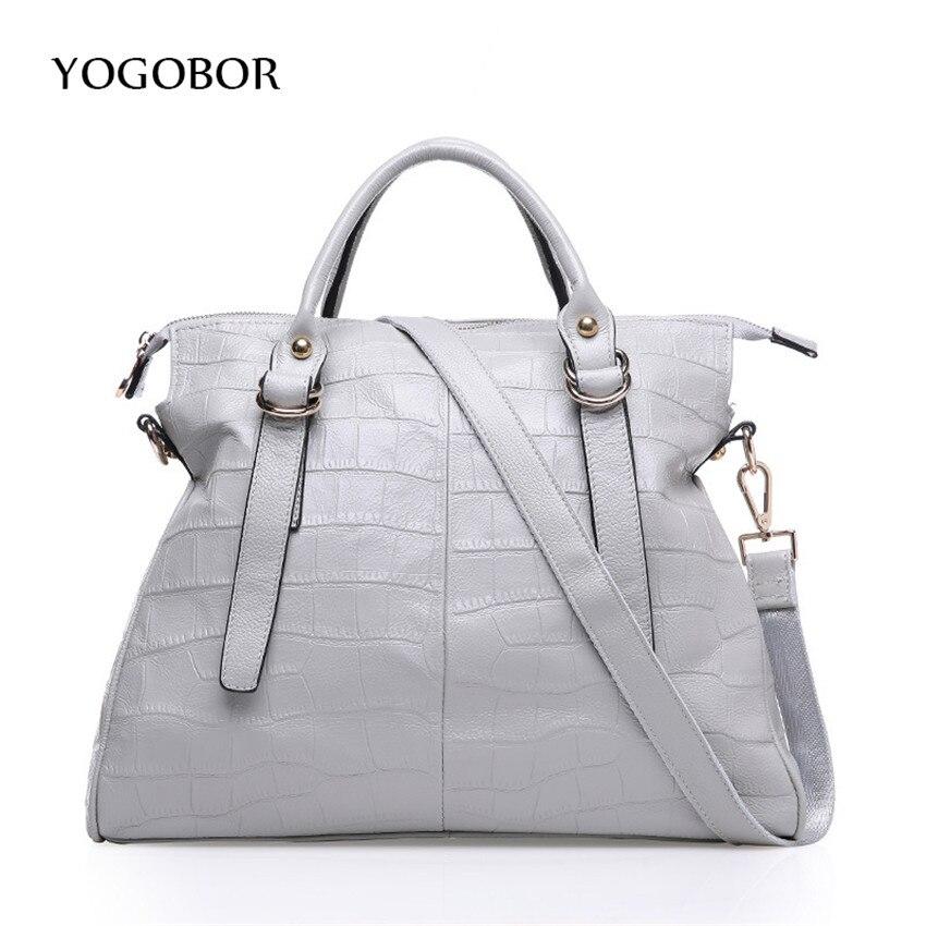 ФОТО 2017 Alligator Leather Women Handbag Bolsas De Couro Fashion Famous Brands Shoulder Bag Black Bag Ladies Bolsas Femininas Sac