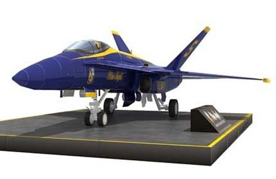Aircraft F / A-18 Hornet Strike Fighter 3D Paper Model DIY Airplanes