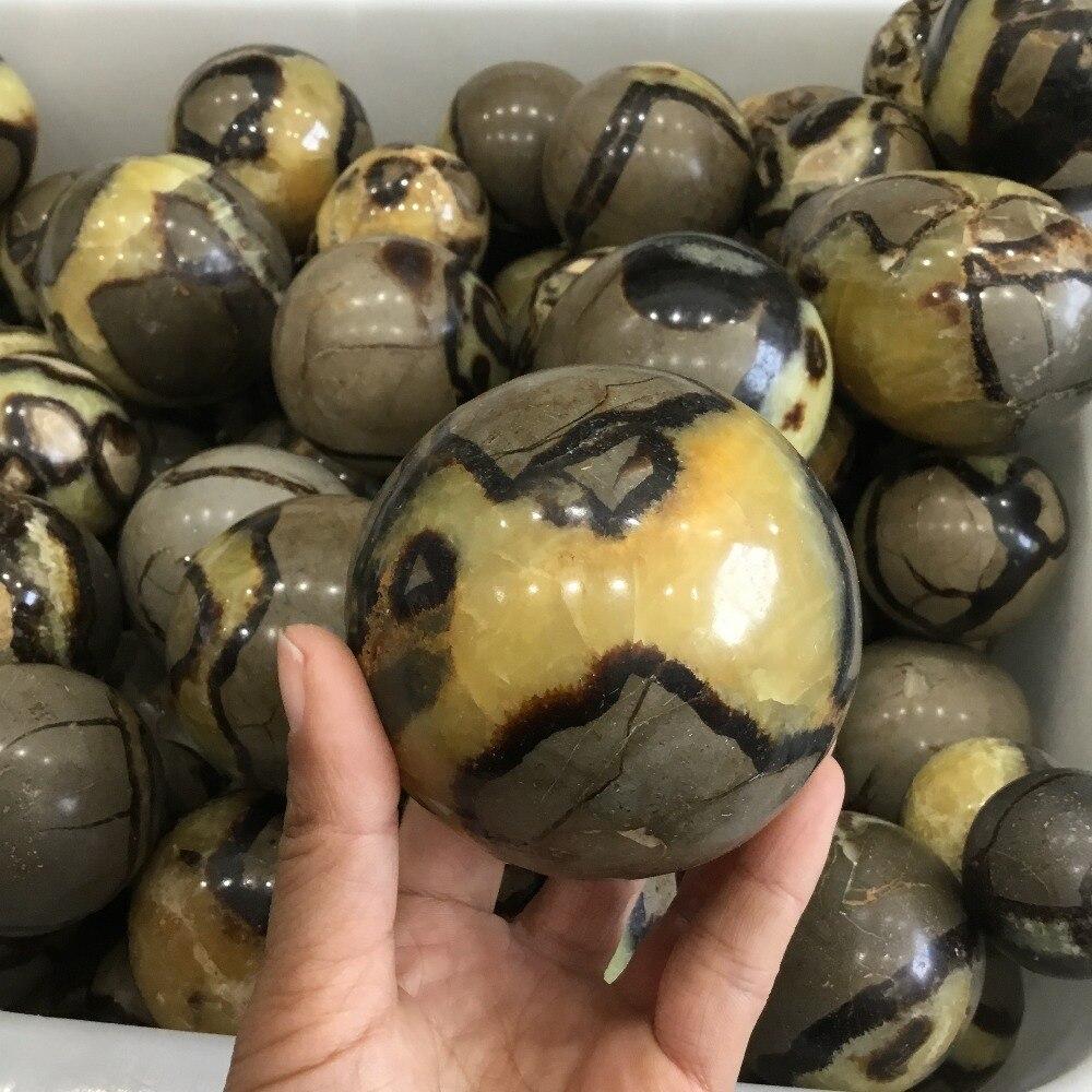 Esfera de pedra natural septarium espécime pedras minerais bola