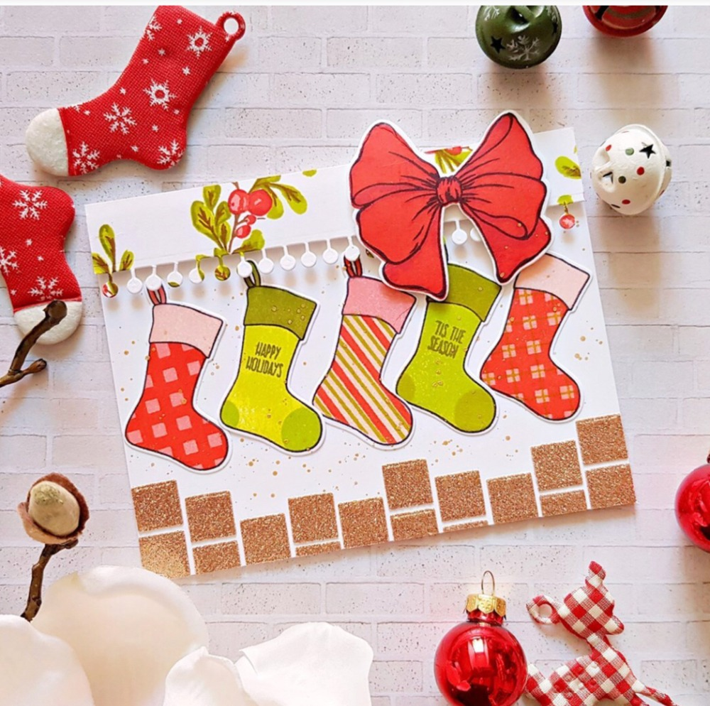 Making Christmas Stocking.Us 2 59 Christmas Stocking Transparent Clear Stamps For Diy Scrapbooking Card Making Kids Christmas Fun Decoration Supplies In Stamps From Home