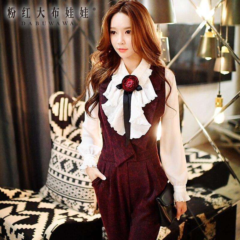 Dabuwawa рубашка с длинными рукавами 2016 осень зима turn down воротник новая мода мухомор цветы трепал белые рубашки женщин розовая кукла