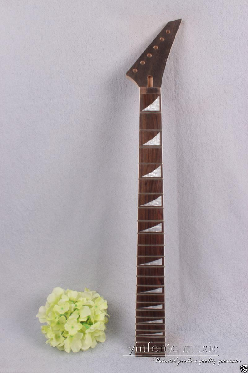1pcs electric guitar neck maple 24 fret 25.5'' Truss Rod rose Paste Paper #756 new electric guitar neck maple 24 fret 25 5 truss rod unfinished no frets nice