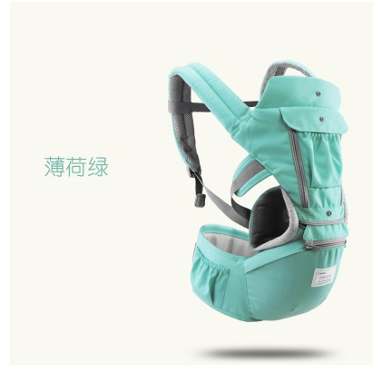 Image 4 - AIEBAO Ergonomic Baby Carrier Infant Kid Baby Hipseat Sling Front Facing Kangaroo Baby Wrap Carrier for Baby Travel 0 18 Months-in Backpacks & Carriers from Mother & Kids