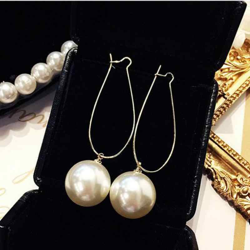 Punk 2018 New Fashion Earring Personality Temperament Wild Simple Pearl Long Ladies Earrings Wholesale Sales Hot Sale Earrings
