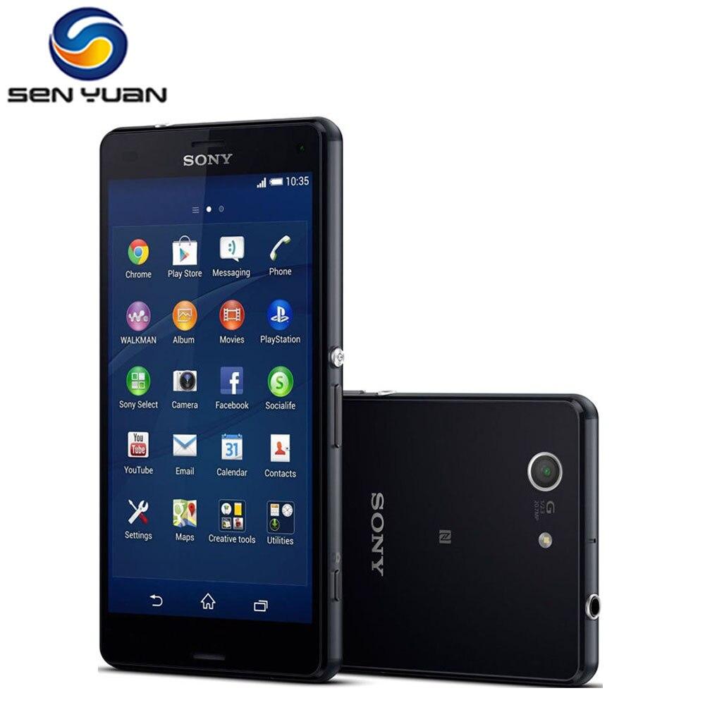 """bilder für Ursprünglicher Freigesetzter Sony Xperia Z3 Kompakte Handy 4,6 """"Touchscreen 20.7MP Kamera 16 GB ROM 2 GB RAM D5803 Handy"""