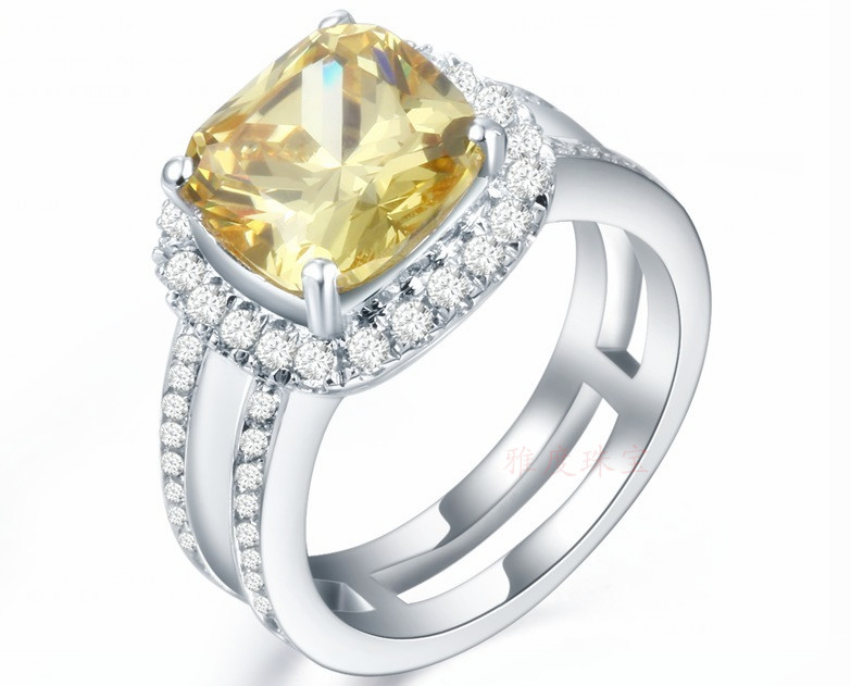 Aliexpress.com : Buy Pure 18K White Gold Engagement Fine ...