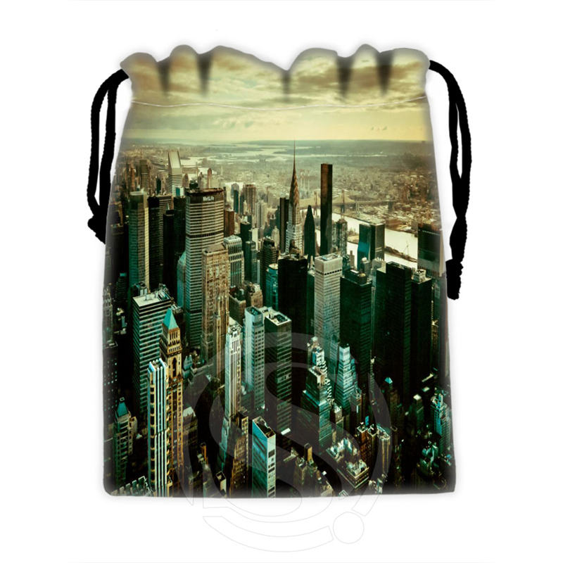 Creative Custom New York #10 Drawstring Bags For Mobile Phone Tablet PC Packaging Gift Bags18X22cm SQ00715-@H0306