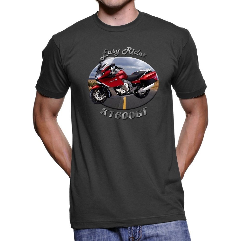 2018 Summer Fashion Men Tee Shirt Motorcycle Motorbike K1600GT Easy Rider Men`s T-Shirt