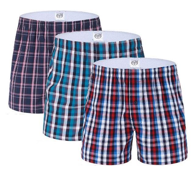 b7e0c55e99 Hombres Ropa interior Boxer Homme ocio algodón cueca Boxers mens Boxer  Pantalones cortos Ropa interior hombre