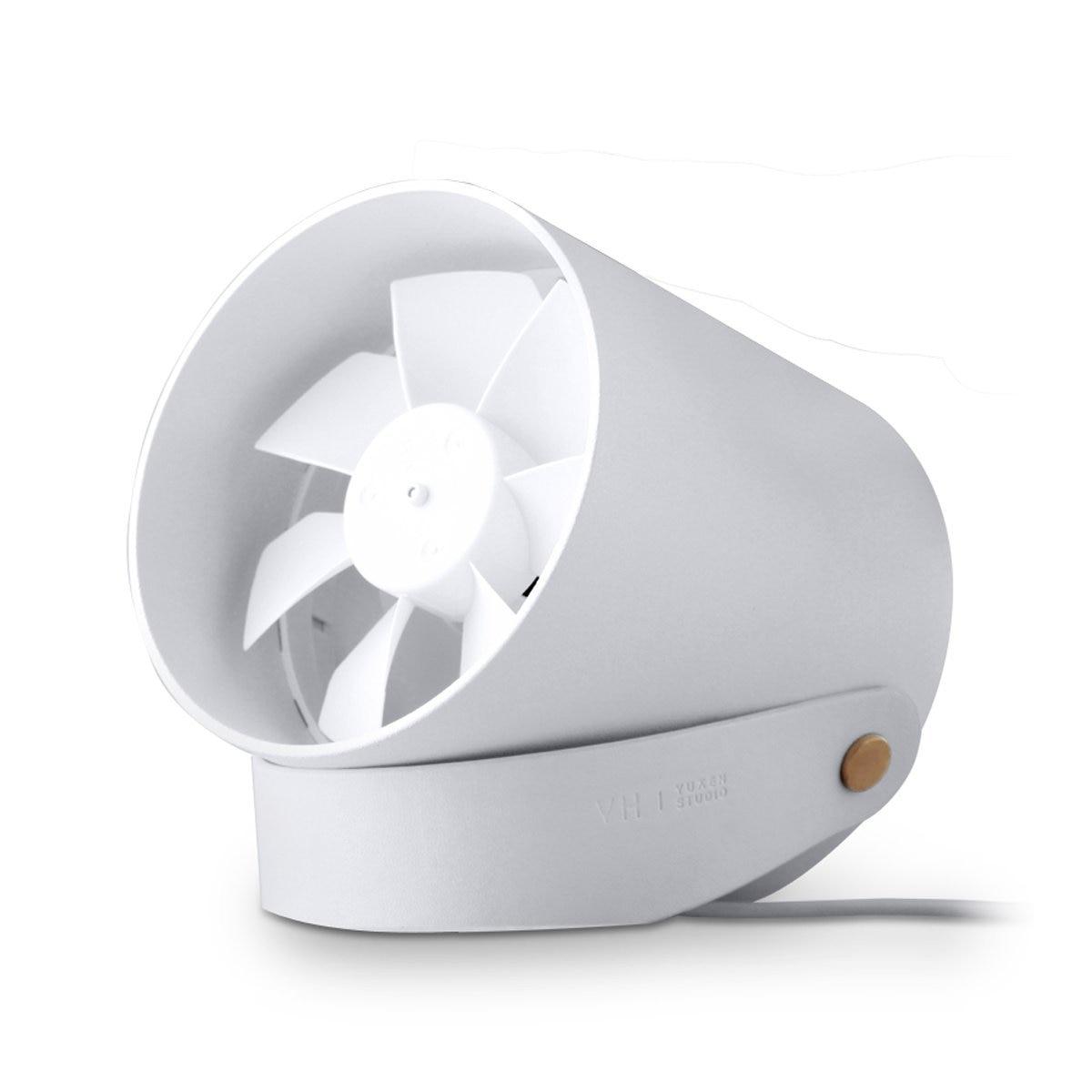RG VH Portable Creative Ultra Mini Quiet USB Desk Fan White