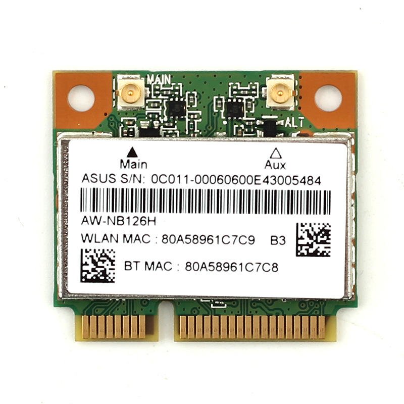 Atheros AR5B225 WIFI Wireless Bluetooth BT 4.0 Half MINI PCI-E Wlan Card Better Than 1030 6235 6230 150M Laptop Network Adapter