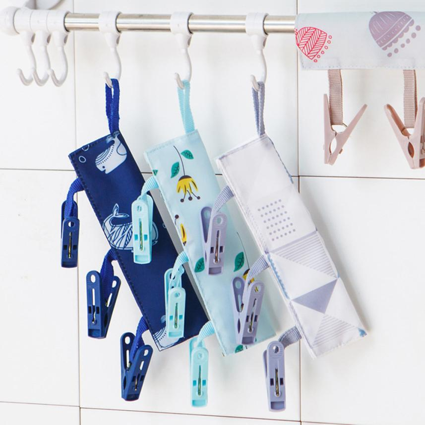 Portable Socks Dry Cloth Pendant Rack Cloth Cutter Business Travel Portable Folding Cloth Hanger Clips JUNE6 ...