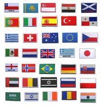 Флаг страны нашивки с полосками вышитые Россия Турция Франция ЕС Нидерланды Флаг тактические бейджи армии аппликация военные нашивки