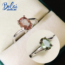 Bolai oval 8x6mm nano zultanite wedding ring 925 sterling silver color change diaspore gemstone fine jewelry rings for women bolai 100% natural tourmaline ring 925 sterling silver fancy color five stone gemstone fine jewelry for women wedding rings 2019