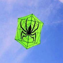 Высокое качество, большой воздушный змей, шестиугольный воздушный змей, паук, тканевый воздушный змей, нейлон, Рипстоп, с катушкой для воздушного змея, летающие уличные игрушки