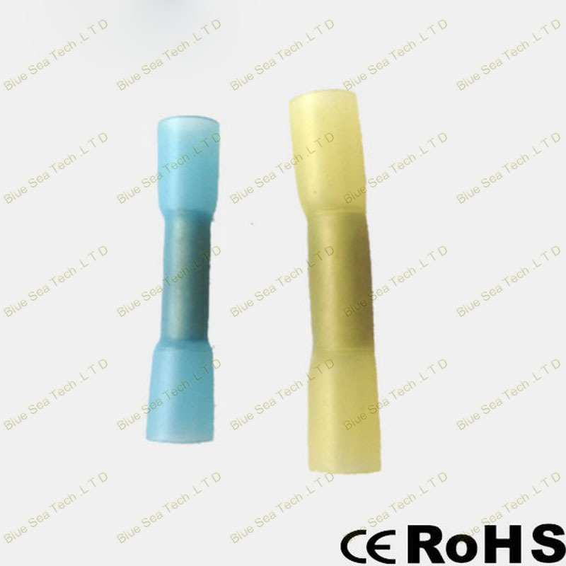 1000 шт./лот BHT2 синий термоусадочный стыковой разъемы и сращивания для 1,5-2.5mm2, 16-14 AWG провода хорошее качество