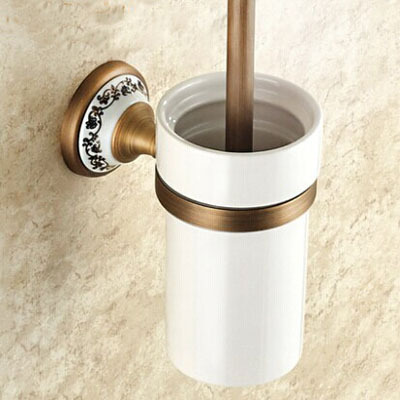 All copper toilet brush holder suits Archaize toilet drink holder Bathroom hardware accessories Toilet brush holder antique brass bathroom toilet c eaner brush holder archaize toilet rack holder bathroom hardware accessories toilet brush holder