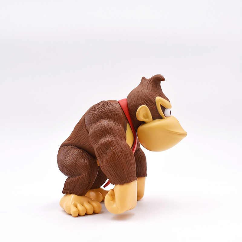 Donkey kong 1 pçs 6'1515cm super mario bros pvc figura de ação brinquedo frete grátis varejo